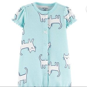 CARTER'S👶🏻TWO Cute Cat and Bunny Snap-up Rompers